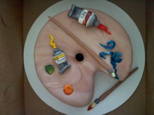 Painter Cake