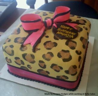 Leopard Birthday Cake