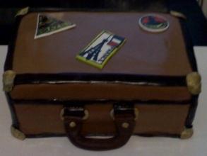 Suitcase World Traveler Cake