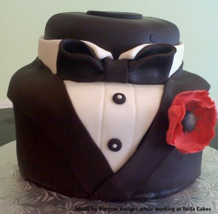 poppy, tux, simple, bow tie