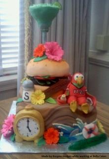"""jimmy buffet cake"" ""cheeseburger in paradise cake"" ""margaritaville cake"""
