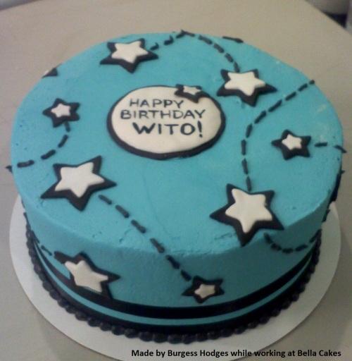 """""""stars cake"""" """"blue cake"""""""