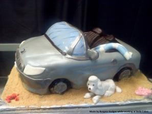 """""""bmw cake"""" """"car cake"""" """"poodle cake"""" """"beach cake"""" """"convertible cake"""""""