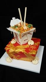 fondant Chinese food chopsticks dinner cake dragon asian