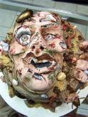 zombie, cake, roach, worm, horror, dead, corpse