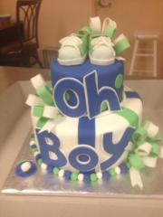 Oh Boy Baby Cake