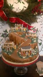Riverview, Suffolk, VA, Judy Kaye house, winter scene, christmas, holiday, mountain, snow scene, snow, Department 56 cake,