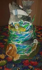 fish, shark, water, seaweed, shell,. sand, tallit, yarmulke, kippah, goalie, flounder, trout, bass, chesapeake bay, fisherman