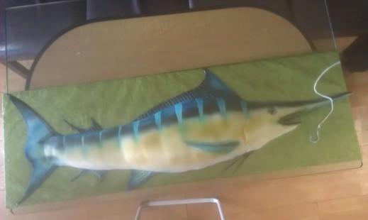 Marlin, swordfish, fishing, trophy, huge fish, blue fish, silver, sail, swim, fins