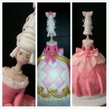 french, pink, princess, queen, bow, cake, Austrian. pearls. modeling chocolate, dress,